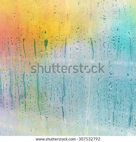 Water drops on a glass - abstract background - stock photo
