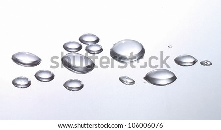 water drops on a metal background - stock photo