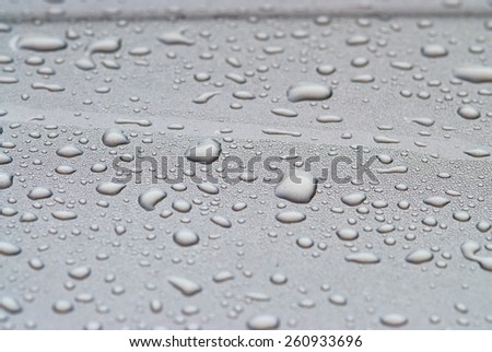 water drops on glass abstract background