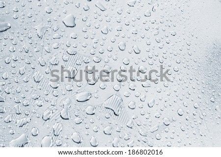 Water drops on metal background