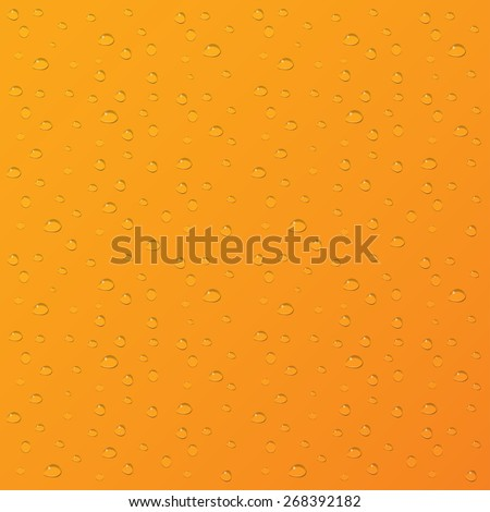 Water drops on orange background.  - stock photo