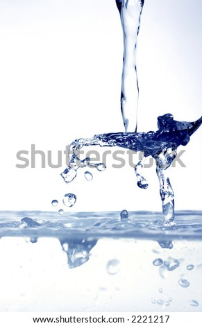 water drops on spoon - stock photo