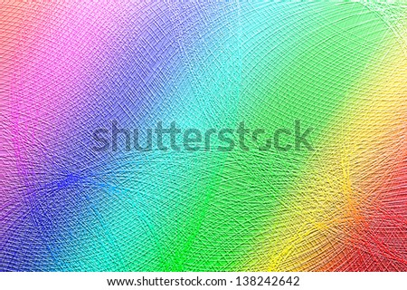 Water drops on the rainbow background - stock photo