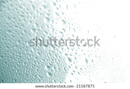 water drops texture blue tones - stock photo