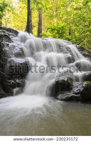 Water fall deep in the jungle