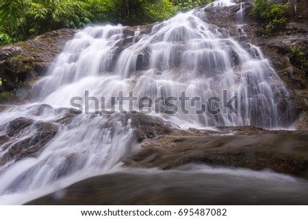 water fall in slow shutter
