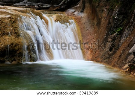 Water falls and cascades of Yun-Tai Mountain, a World Geologic Park and AAAAA Scenery Site in China
