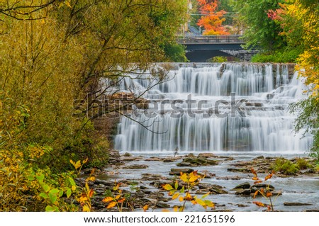 Water Falls at Glen Park, Williamsville New York. - stock photo