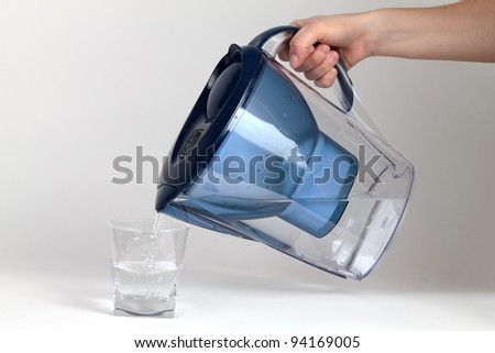 Water Filter Jug - stock photo