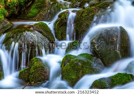 water flow - stock photo