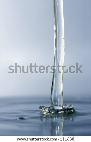 water flowing blue - stock photo