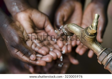 Water for Life Symbol - stock photo