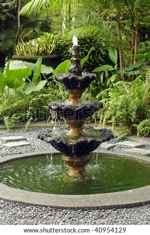 water fountain at garden - stock photo