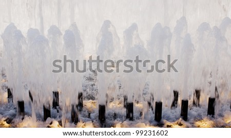 Water Fountains - stock photo