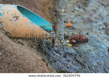 Water from the drain - stock photo