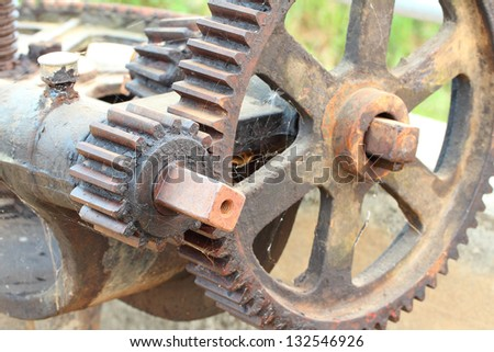 water gate gear - stock photo