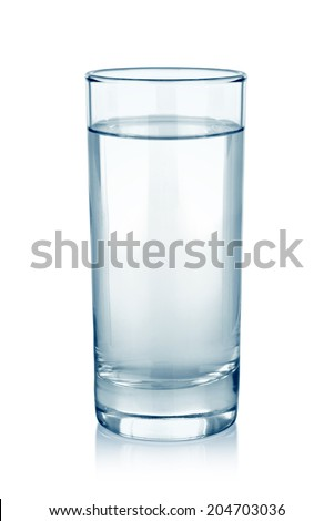 water glass isolated on white