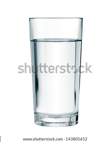 water glass isolated with clipping path included - stock photo