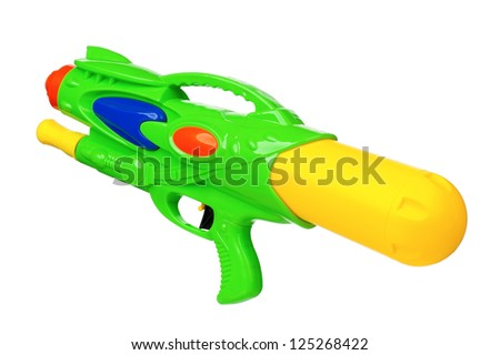 Water gun isolated on white background - stock photo