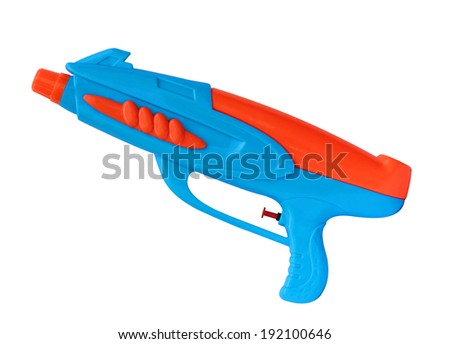 Water gun isolated on white background, (Clipping path)  - stock photo