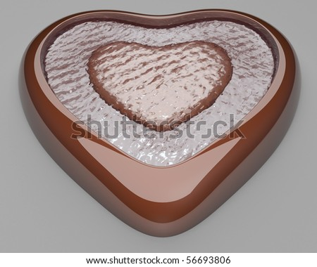 Water Heart - stock photo