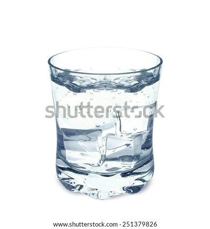 water in a glass isolated on white