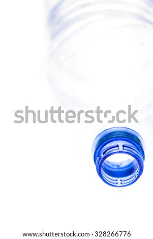water in a plastic bottle isolated on a white background