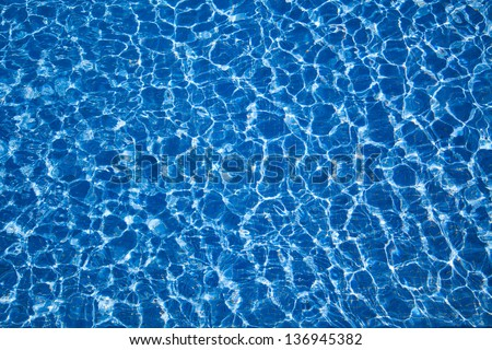 water in the pool on a sunny day