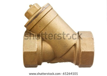 water inlet valve isolated on a white  background - stock photo