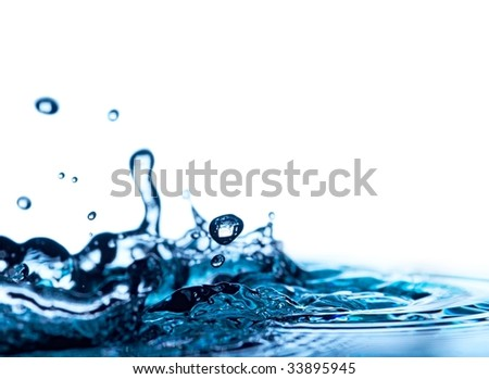 water isolated on white background
