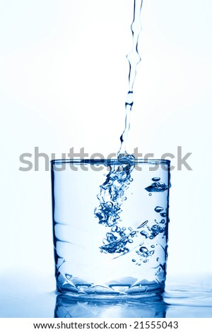 water isolated over white - stock photo