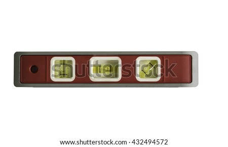 water level measuring - stock photo