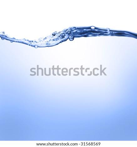 Water line - stock photo