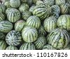 water melons were piled up - stock photo