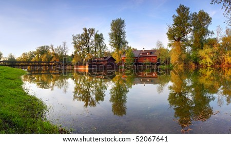 Water mill in Kolarovo - stock photo