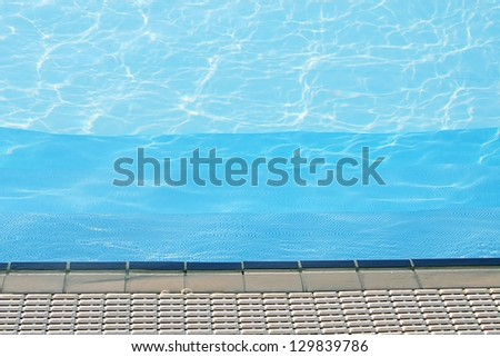 water of the pool for swimming competitions - stock photo