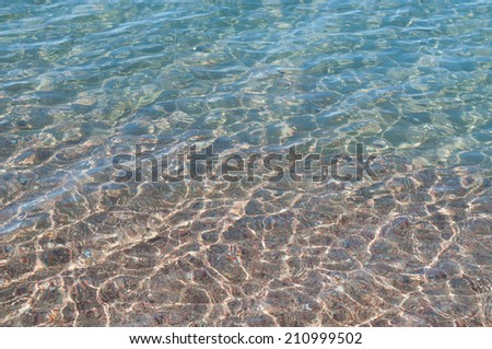 Water on the beach. Texture, background - stock photo