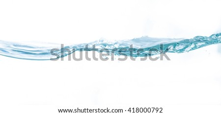 Water on white background,