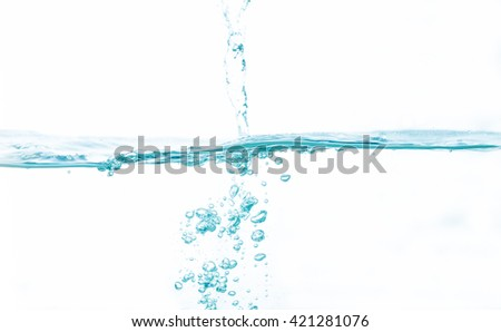 Water on white background, - stock photo