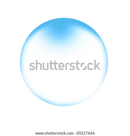 water or soap bubble on a solid white background