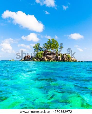 Water Paradise Island  - stock photo