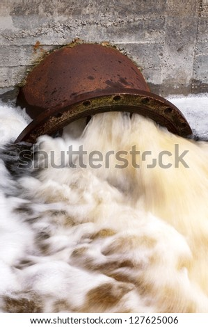 Water pollution - stock photo