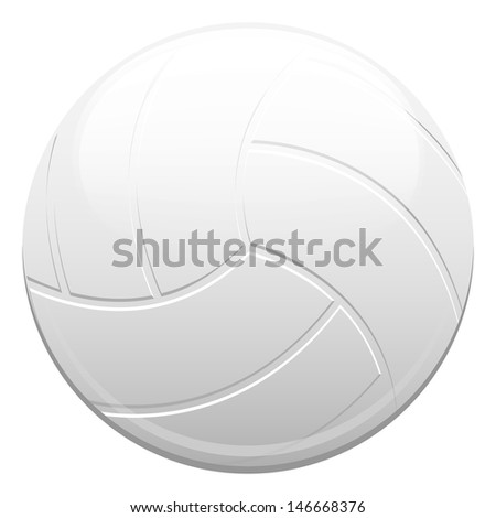Water polo ball or volleyball on a white background isolated