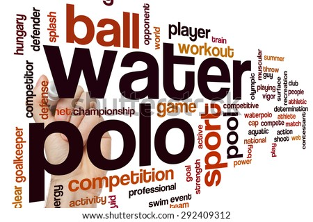 Water polo word cloud concept - stock photo