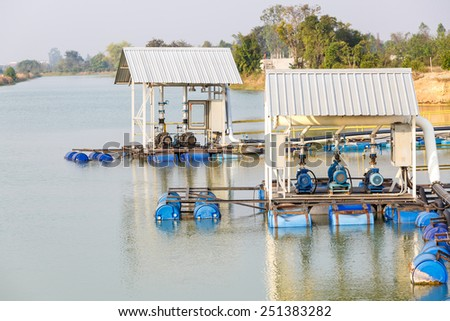 Water pump for factory - stock photo
