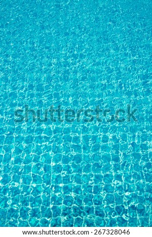 water reflect in swimming pool - corner swimming pool - stock photo