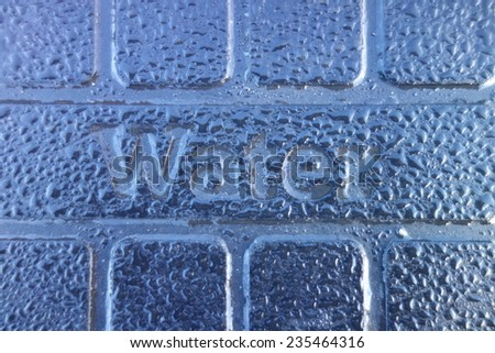 Water Sign - stock photo