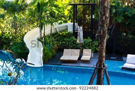 Water-slide - stock photo