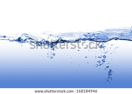 water splash and air bubbles - stock photo