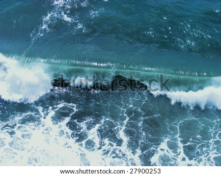 water splash background - stock photo